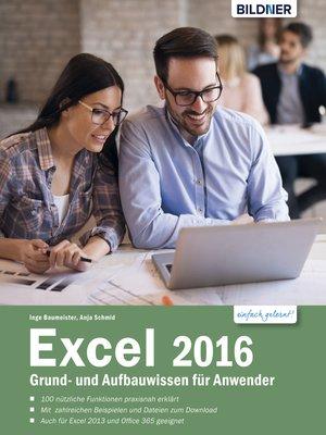 cover image of Excel 2016 Grund- und Aufbauwissen für Anwender