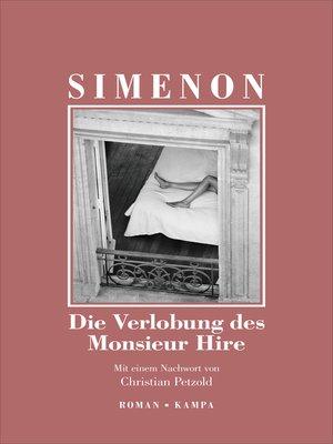 cover image of Die Verlobung des Monsieur Hire
