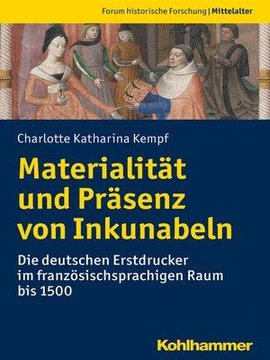 cover image of Materialität und Präsenz von Inkunabeln