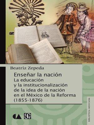 cover image of Enseñar la nación