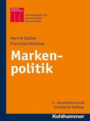 cover image of Markenpolitik