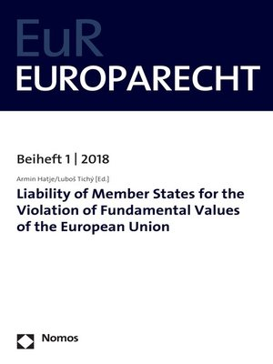 cover image of Liability of Member States for the Violation of Fundamental Values of the European Union