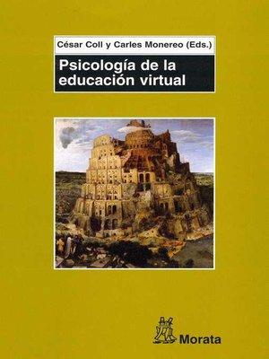 cover image of Psicología de la educación virtual