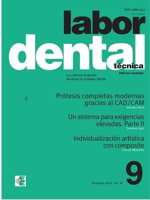 cover image of Labor Dental Técnica nº9 Diciembre 2019 Volume22