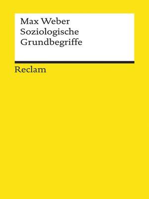 cover image of Soziologische Grundbegriffe