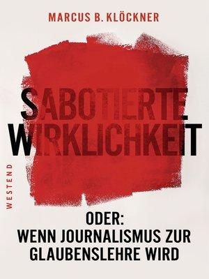 cover image of Sabotierte Wirklichkeit