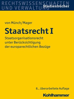 cover image of Staatsrecht I