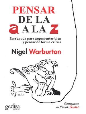 cover image of Pensar de la a a la Z