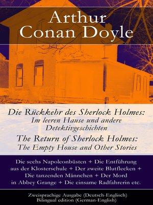 cover image of Die Rückkehr des Sherlock Holmes--Zweisprachige Ausgabe (Deutsch-Englisch)