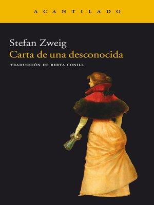 cover image of Carta de una desconocida