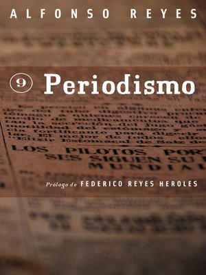 cover image of Periodismo
