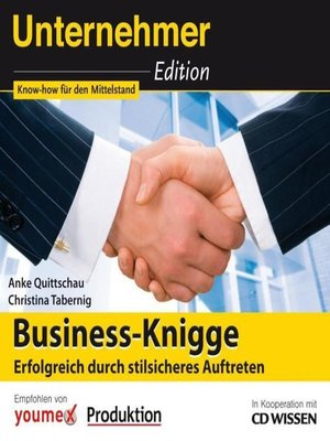 cover image of CD WISSEN--Unternehmeredition--Business-Knigge
