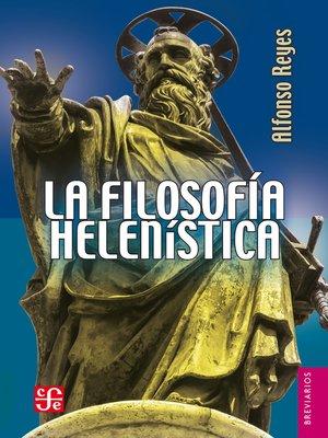 cover image of La filosofiía helenística