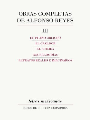 cover image of Obras completas, III
