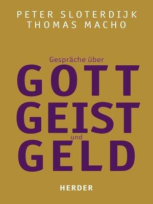 cover image of Gespräche über Gott, Geist und Geld