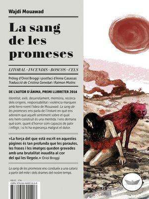 cover image of La sang de les promeses