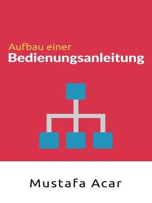 cover image of Aufbau einer  Bedienungsanleitung