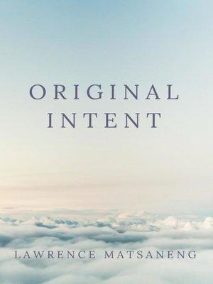 cover image of Original Intent