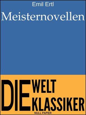 cover image of Meisternovellen