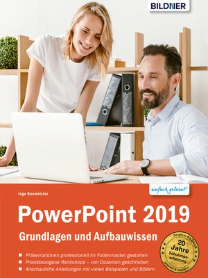 cover image of PowerPoint 2019--Grundlagen und Aufbauwissen