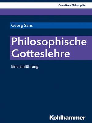 cover image of Philosophische Gotteslehre