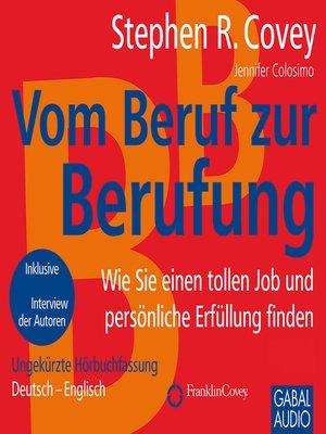 cover image of Vom Beruf zur Berufung