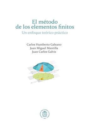cover image of El método de los elementos finitos