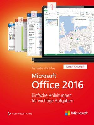cover image of Microsoft Office 2016 (Microsoft Press)