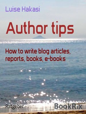 cover image of Author tips