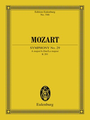 cover image of Symphony No. 29 a major