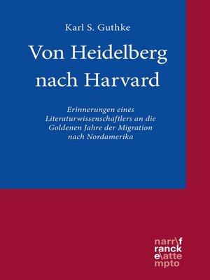 cover image of Von Heidelberg nach Harvard