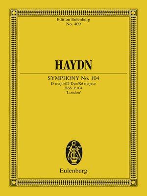 cover image of Symphony No. 104 D major