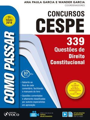 cover image of direito constitucional: 339 questões de direito constitucional