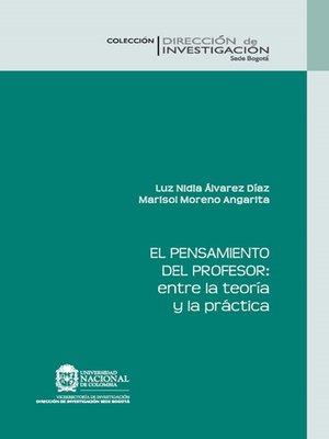 cover image of El pensamiento del profesor