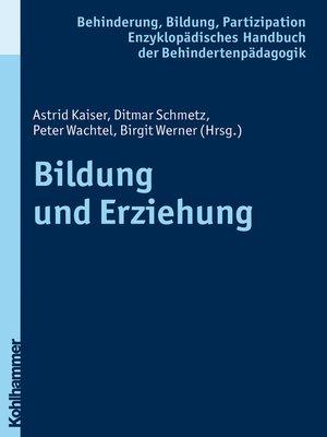 cover image of Bildung und Erziehung