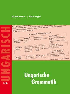 cover image of Ungarische Grammatik
