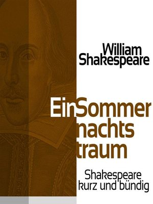 cover image of Ein Sommernachtstraum