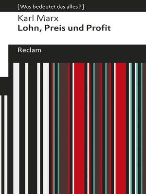 cover image of Lohn, Preis und Profit