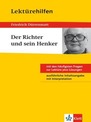 cover image of Klett Lektürehilfen--Friedrich Dürrenmatt, Der Richter und sein Henker