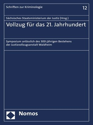 cover image of Vollzug für das 21. Jahrhundert