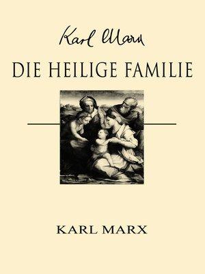 cover image of Die heilige Familie