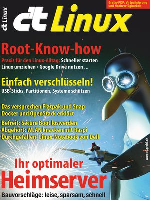 cover image of c't Linux 2017
