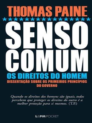cover image of Senso comum e Os direitos do homem