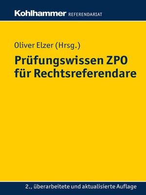 cover image of Prüfungswissen ZPO für Rechtsreferendare