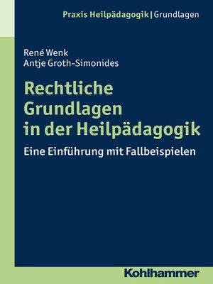 cover image of Rechtliche Grundlagen in der Heilpädagogik