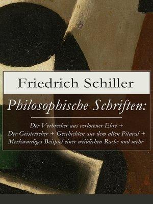 cover image of Philosophische Schriften