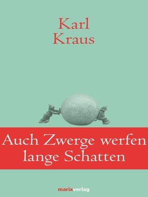 cover image of Auch Zwerge werfen lange Schatten