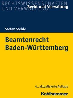cover image of Beamtenrecht Baden-Württemberg
