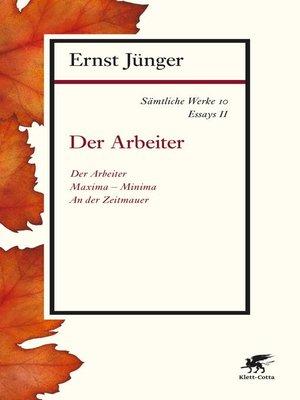 cover image of Sämtliche Werke--Band 10