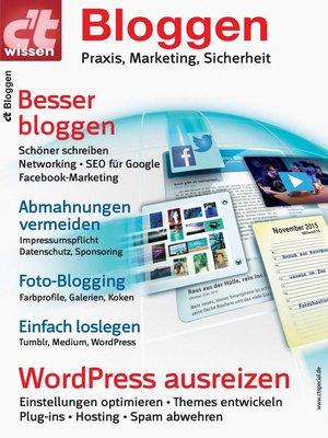 cover image of c't wissen Bloggen (2016)